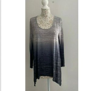 Torrid Dip Dye Hacci Tunic Top sz 1 New